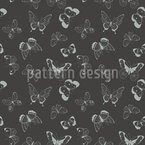 Drawn Butterflies Seamless Vector Pattern Design
