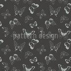 Drawn Butterflies Design Pattern
