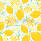 Fresh And Juicy Lemons Repeat Pattern