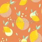 Hippe Zitronen Muster Design