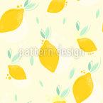 Limones que caen Estampado Vectorial Sin Costura