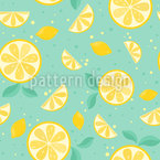 Lemon Time Seamless Vector Pattern