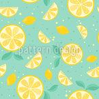 Zitronenzeit Nahtloses Vektor Muster