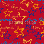 Merry Christmas Seamless Vector Pattern Design