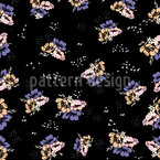 Rocket Flowers Seamless Vector Pattern Design