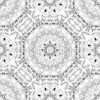 Florale Linien Nahtloses Vektormuster