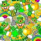 St Patrick Comic Seamless Pattern