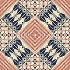 Bordado Palestino Tradicional Design de padrão vetorial sem costura