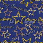 Merry Christmas Blau Rapport