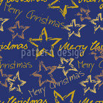 Merry Christmas Blue Seamless Vector Pattern Design
