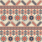 Palestinian Embroidery Art Seamless Vector Pattern Design