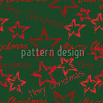 Merry Christmas Green Seamless Vector Pattern Design