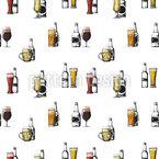Bier Gourmet Nahtloses Vektormuster