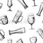 Bierauswahl Nahtloses Vektormuster