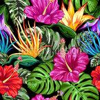 Tropische Flora Sommerstimmung Nahtloses Vektormuster