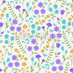 Meadow Flower Dance Repeating Pattern