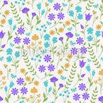 Wiesen Blumentanz Rapportiertes Design