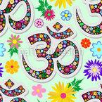 Floral Yoga-Zeichen Nahtloses Vektormuster