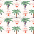 Hello Summer Palm Trees Design Pattern