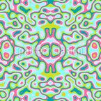 Trippy Kaleidoskop Nahtloses Vektormuster