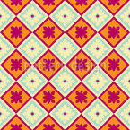 Vintage Tile Floor Seamless Vector Pattern Design