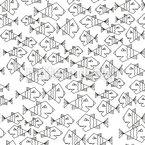 やさしいピラニア シームレスなベクトルパターン設計