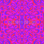 Lava lamp Kaleidoscope Seamless Vector Pattern Design