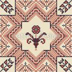 Florale Palästinensische Stickerei Designmuster