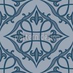 Renaissance Blau Nahtloses Vektormuster