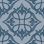 Renaissance Blue Vector Ornament