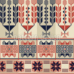 Art traditionnel palestinien Motif Vectoriel Sans Couture