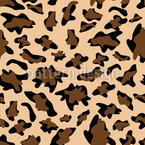 Leopard Camouflage Seamless Vector Pattern Design