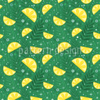 Tropical Fresh Lemons Vector Pattern