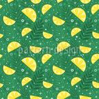 Tropische Frische Zitronen Vektor Muster