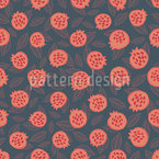 Scandi Pomegranate Seamless Vector Pattern Design