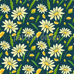 Meadow Chamomile Repeating Pattern