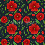 Meadow Poppy Vector Ornament