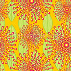 African Cloth Flowers Seamless Pattern
