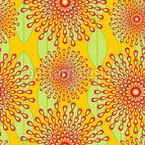 Afrikanischer Stoff Blumen Nahtloses Vektormuster