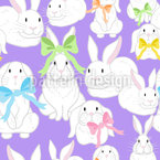 Familia Happy Bunny Estampado Vectorial Sin Costura