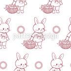 Spring Bunnies Repeat Pattern