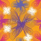 Spiralblumen Safran Nahtloses Vektormuster