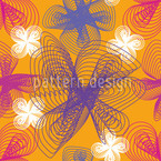Spiralflowers Saffron Seamless Vector Pattern Design