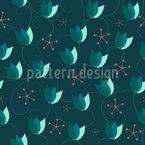 Blumen Scheinen Muster Design