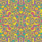 Hippie Kaleidoskop Nahtloses Vektormuster
