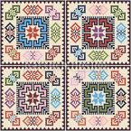 Palästinensische Quadrat Kunst Nahtloses Vektormuster