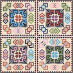 Palestinian Square Art Repeating Pattern