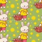 Happy Spring Bunnies Vector Pattern