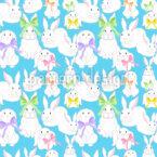 Famille des lapins de Pâques Motif Vectoriel Sans Couture