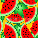 Fresh Summer Melons Vector Pattern